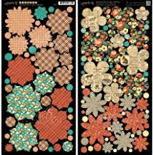 Graphic 45 G4500977 Raining Cats & Dogs Cardstock Die-Cuts 6X12 Sheets 2/Pkg-Flowers