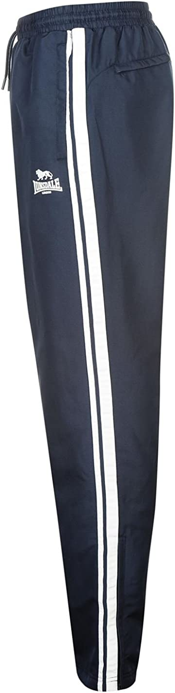 Lonsdale Mens 2 Stripe Open Hem Pants