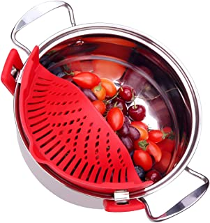 Szxc Flexible Silicone Kitch Food Food Strainer (Red)