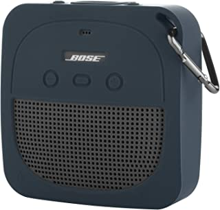 TXEsign Protective Silicone Stand Up Case for Bose Soundlink Micro Waterproof Bluetooth Portable Speaker (Dark Blue)