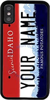 BleuReign Personalized Custom Name Idaho State License Plate Rubber Phone Case for Apple iPhone XR