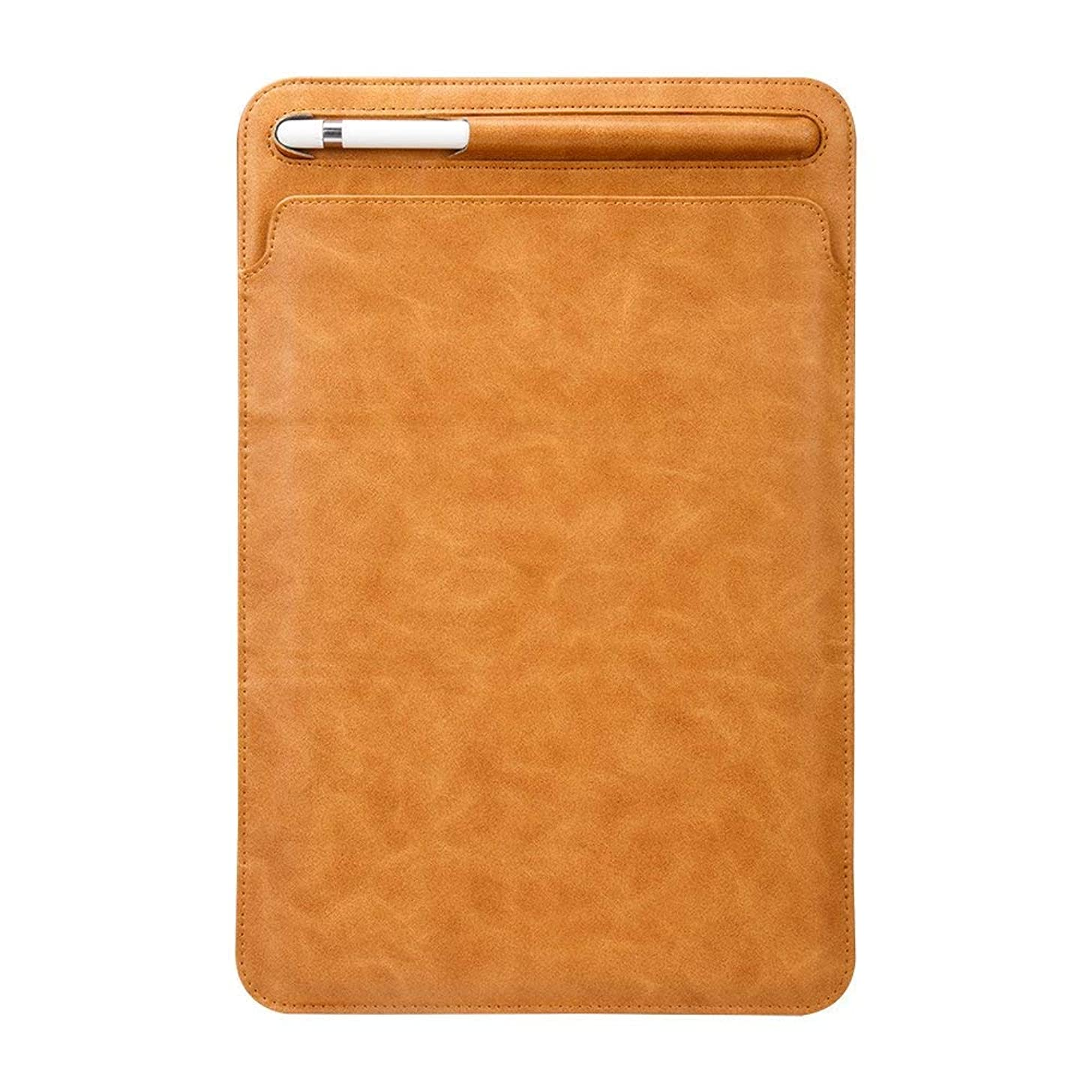 iPad Pro 11 Inch Stand Case 2018,Miya Luxury Pu Leather Smart Case Ultra Lightweigh Cover with Pencil Holder Kickstand Business Protective Case Sleeve Bag Pouch for iPad Pro 11 inch 2018,Light Brown
