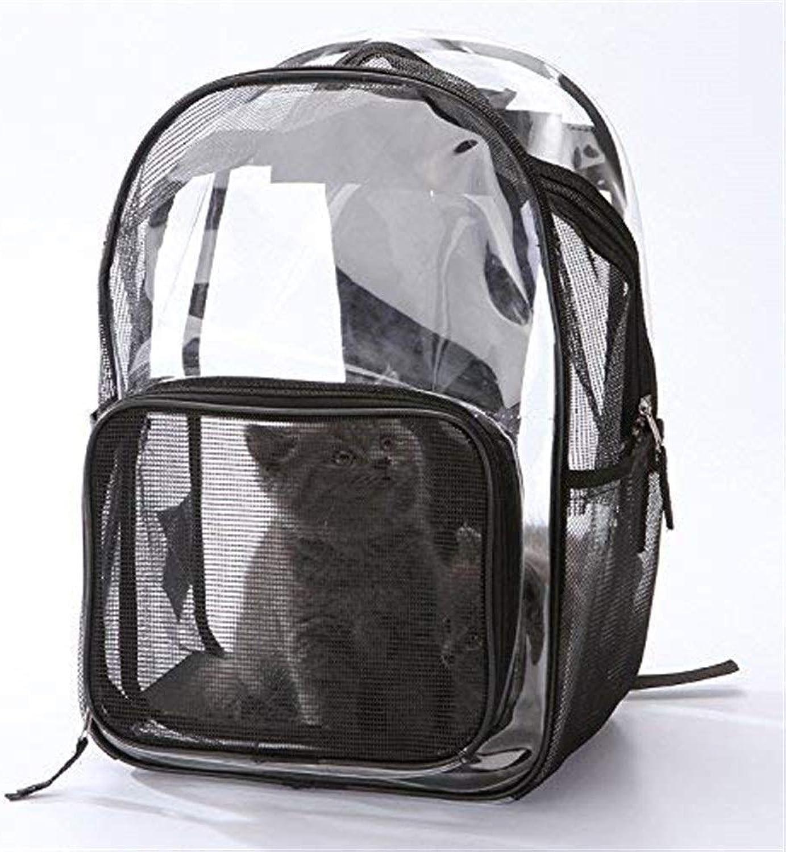 BeTti Transparent Light Cat Bag Pet Backpack Go Out Dog Bag Travel Space Bag Breathable Portable Travel Pet Bag