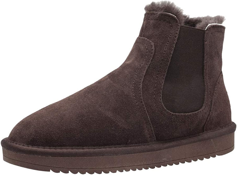 MIS LI Snow stövlar Mans utomhus skor Non -Slip Cotton Cotton Cotton skor Fur Lined Ankle Mans Work Utility Footwear  exklusiva mönster