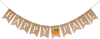 Yaaaaasss! Happy Fall Burlap Banner Autumn Pumpkin Garland Thanksgiving Day Mantel Wall Jute Bunting Flag Party Decorations Rustic Harvest Time Home Decor