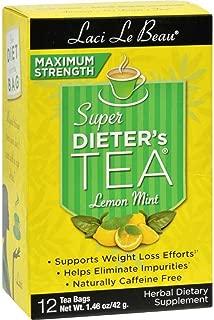 Super Dieters Tea-Max Lemon Mint Laci Le Beau 12 Bag