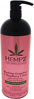 Hempz Hempz blushing grapefruit & raspberry creme color preserving herbal shampoo, 33.8 fluid ounce, 33.8 O...