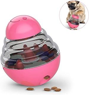 Dvirroi Pet Tumbler Interactive Toy, Dog Shaking Food Leak Ball with 2 Adjustable Leak Holes, Funny Puzzle Ball Dog Self F...