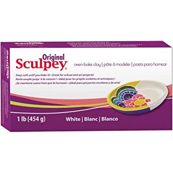 Original Sculpey Sculpting Compound White Oven-Bake Clay - Great for School and Art Projects - 1 Lb, Pack of 3