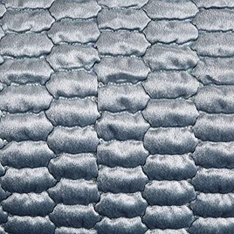 Altrosa Eurofirany Hochwertige Tagesdecke Alli Velvet Samt Gesteppter Bett/überwurf Paillette Steppung Ganzj/ährig Samt Steppdecke Quilt XL