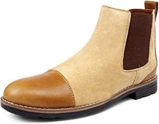 Bacca Bucci Chelsea high end Urban Fashion Weekender Slip-on Boots Genuine Smooth Leather Suede for Men