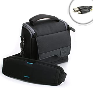 USA Gear Portable Fishfinder Carry Case Shoulder Strap, Weatherproof Base, Scratch-Resistant Interior - Fits Garmin 010-01550 Striker 4, Lucky FFW 718, Venterior, Hawkeye FT1PXC More