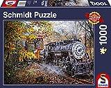 Schmidt Spiele- Puzzle (1000 Piezas), diseño de Tren, Color carbón (58377)