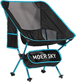 Portable Camping Chair, Lightweight Compact Folding Backpacking Chair, Heavy Duty 250lbs Capacity with Carry Bag, Breathable and Comfortable for Outdoor, BBQ, Hiking, Picnic, Fishing, Festival