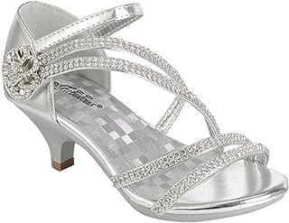 260e9094b37a J.J.F Shoes Fabulous Angel-37K Little Girls Bling Rhinestone Platform Dress Heels  Sandals