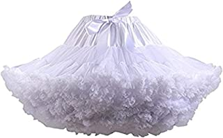 Womens 3-Layered Pleated Tulle Petticoat Tutu Puffy Party...