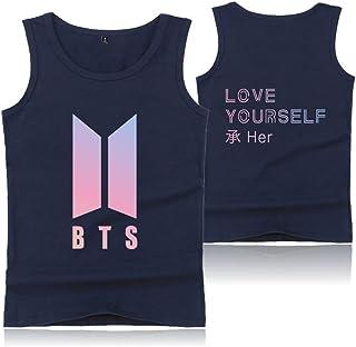 Kpop BTS Love Yourself Her Vest The Same Style Suga Rap-Monster Jimin Jin J-Hope Jung Kook Fashion for Unisex Vest