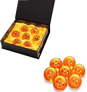 BRone Dragonball Dragon Balle, Dragon Ball Z 1 à 7 Etoiles Boules de Cristal Dragon Ball et Boîtes-Cadeaux pour Enfant Collection - 4.3CM