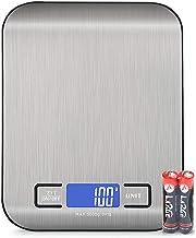 Vecoor Balance de Cuisine Numérique avec Chargement, Balance Alimentaire Électronique, écran LCD Lumineux, Balance Électro...