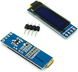 """5PCS LOT 0.91 inch 12832 white and blue color 128X32 OLED LCD LED Display module 0.91"""" IIC Communicate (Color : White)"""