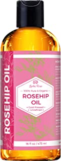 Rosehip Seed Oil by Leven Rose, 100% Pure Organic Unrefined Cold Pressed Anti Aging Moisturizer for Hair Sk...