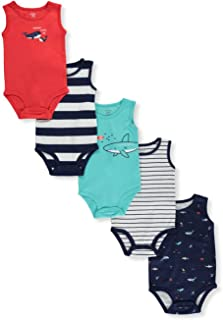 Carter's Baby Boys' Mommy Loves Me Sleeveless 5-Pack Bodysuits
