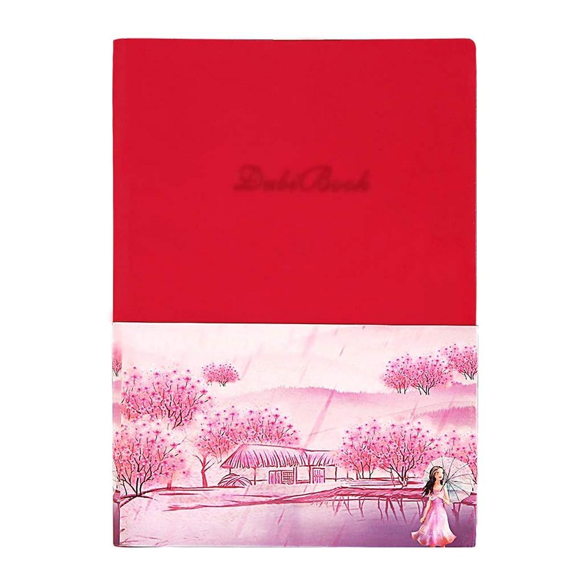 厚手のノート ノートブックアプリバックアップ学生電子ノートブック防水紙スマート反復書き込みノート ポータブル (Color : Rose red, サイズ : 21*15cm)