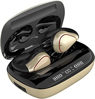 B Blesiya Bluetooth-öronsnäckor, TWS trådlösa Bluetooth 5.0 hörlurar, vattentäta pekhörlurar sporthörlurar, trådlöst heads...