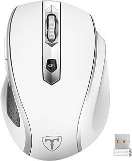 VicTsing - Mouse Inalámbrico Ergonómico 2.4G - MM057 - Ratón Profesional Mini con Receptor Nano, 6 Botones, 2400DPI, 5 Niv...