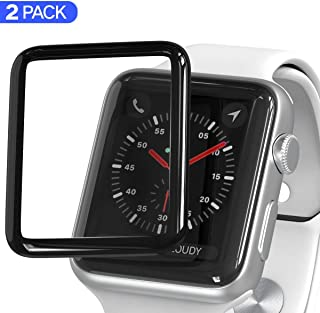 Screen Protector for Apple Watch 40mm Series 5/4 3D Curved Tempered Glass iWatch 40mm Screen Protector with Max Coverage Anti-Scratch Anti-Bubble HD Clear Ballistic LCD Cover Premium Guard 2-Pack