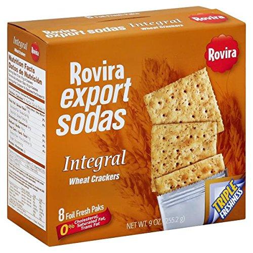 Rovira Export Sodas - Wheat Crackers (8 foil fresh packs/box) - 9 oz Box (Count of 2)
