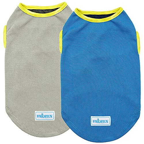 kyeese 2 Pack Dog Cooling Shirts for Medum Dogs Breathable Instant Cooling Dogs Vest Lightweight for Summer Dog Apparel