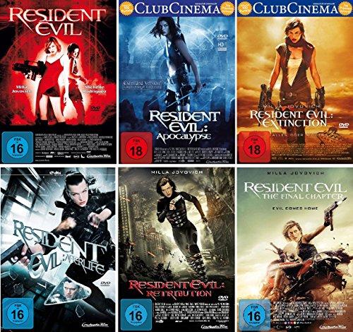 Resident Evil 1-6 komplett Set (FSK 18) - Deutsche Originalware [6 DVDs]