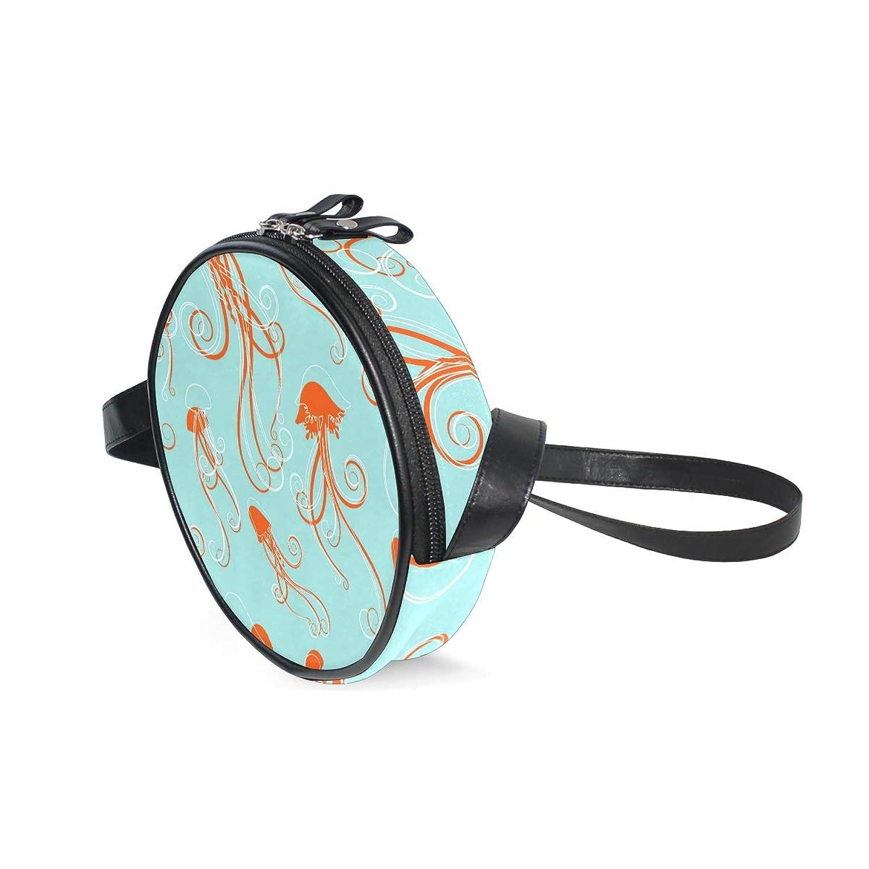 AOMOKI バッグ ミニショルダー ショルダーバッグ ポシェット 斜めがけ 肩かけ 子供 旅行 クラゲ 幾何学
