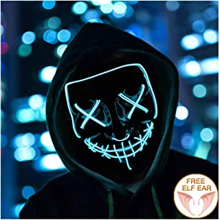 Halloween Mask Light up Mask Cosplay LED Mask Scary Mask Festival Halloween Costume Masquerade Parties,Kids,Gifts