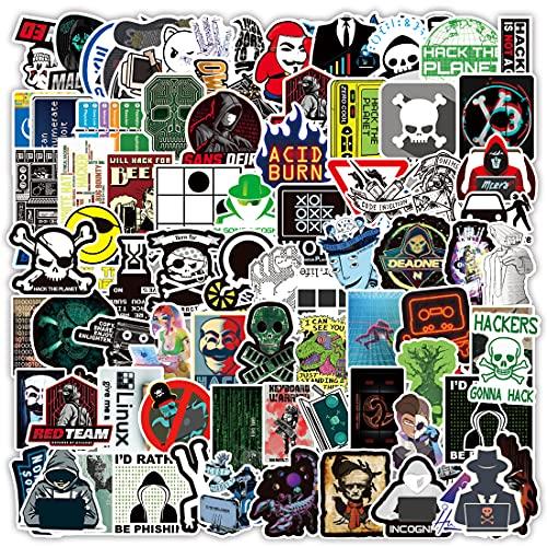 Hacker Stickers 100PCS Waterproof Vinyl Stickers for Developers, Coders, Programmers, Hackers, and Engineers for Water Bottle Laptop Skateboard