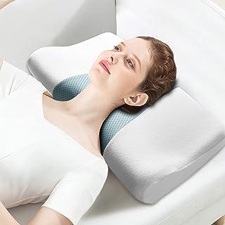 GENERAL ARMOR Almohada Viscoelastica, Ergonómica Almohada Cervical, Ortopedica Diseño Terapéutico Reduce Dolores Cuello para Todos los Durmientes, Cubierta de Fibra de BambúExtraíble y Lavable