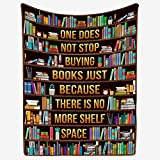 zbigtee Librarian One Does Not Stop Buying Books Blanket Sofa Bed Throws/Throw Blanket for Adult and Fleece Blanket Throw Librarian (Multi, XL (51.2' x 59.1'))