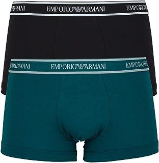 Emporio Armani Bodywear Men's Men's Knit 2-Pack TR, Baltico/Nero, Large