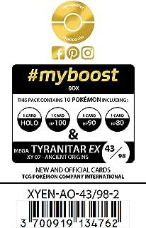 my-booster M-Tyranitar-EX (M-Tyranocif-EX) 43/98 - Ultraboost X XY 7 Ancient Origins - Coffret de 10 Cartes Pokémon Aglaises