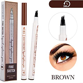 Tattoo Eyebrow Pen Waterproof Ink Gel Tint With Four Tips, Natural Looking Brows Effortlessly And Stays On All Day