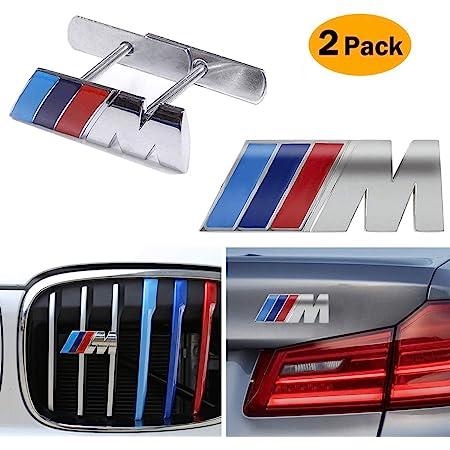 Amazon Com 2 In 1 Bmw M Front Grille Emblem Side Badge Sticker 3d Chrome Badge Metal Power Car Fashion Logo For Bmw M M3 M5 X1 X3 X5 X6 E30 E34 E36