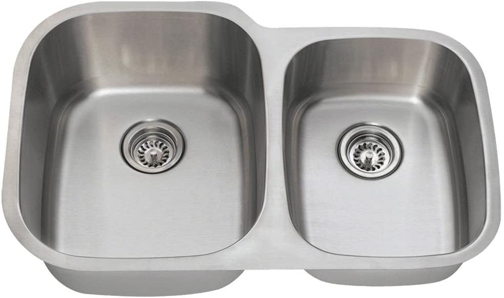 503L 16-Gauge Popular shop is the lowest price challenge Sales for sale Undermount Offset Double Bowl Kitc Stainless Steel