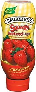 Smucker's Squeeze Reduced Sugar Strawberry Fruit Spread, 17.4 Oz
