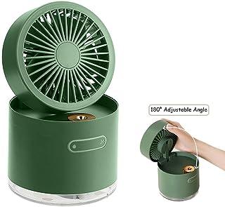 Wing Ventilador Agua Nebulizador, Ventilador Portátil de Mano Batería Recargable de 2000mAh con 3 VelocidadesGreen