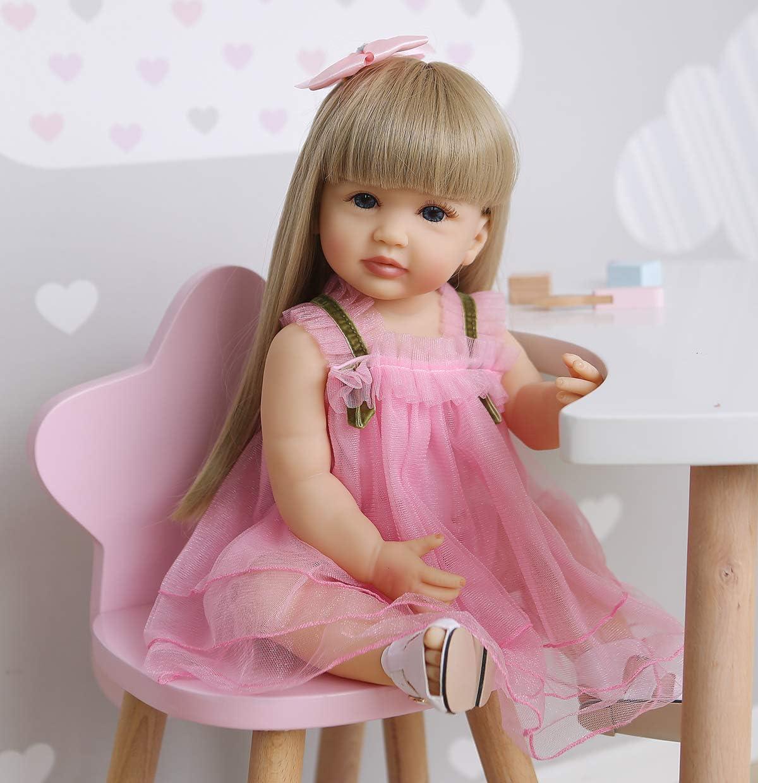 Reborn Baby Dolls Full 100% quality warranty specialty shop Body Silicone Vinyl Girl Re cm 55 inch 22
