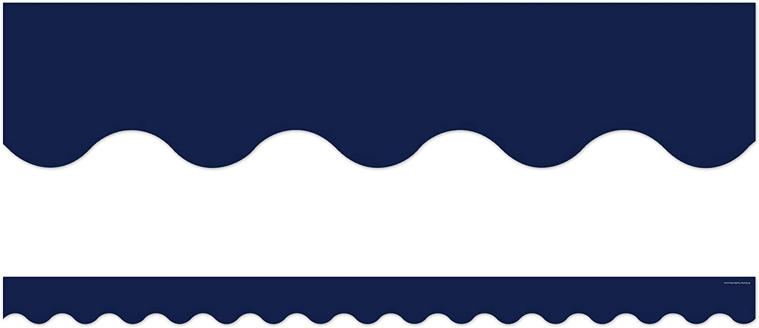 Teacher Sales for sale Created Resources Navy Border Branded goods 5861 Trim Scalloped