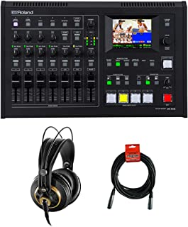 Roland VR-4HD HD AV Mixer with AKG K 240 Studio Pro Semi-Open Stereo Headphones & XLR Cable Bundle
