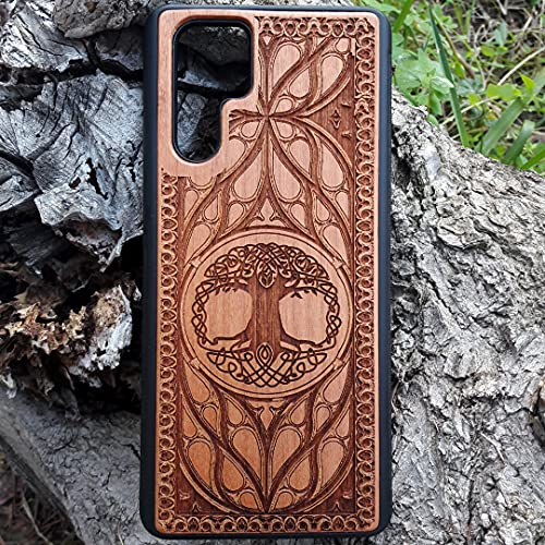 Celtic Tree iPhone 11 12 PRO MAX XS XR X 8 7 PLUS Case, Samsung Galaxy S9 S10 S20 S21 Ultra NOTE 9 10 20 Case, Unique Phone Laser Engraved