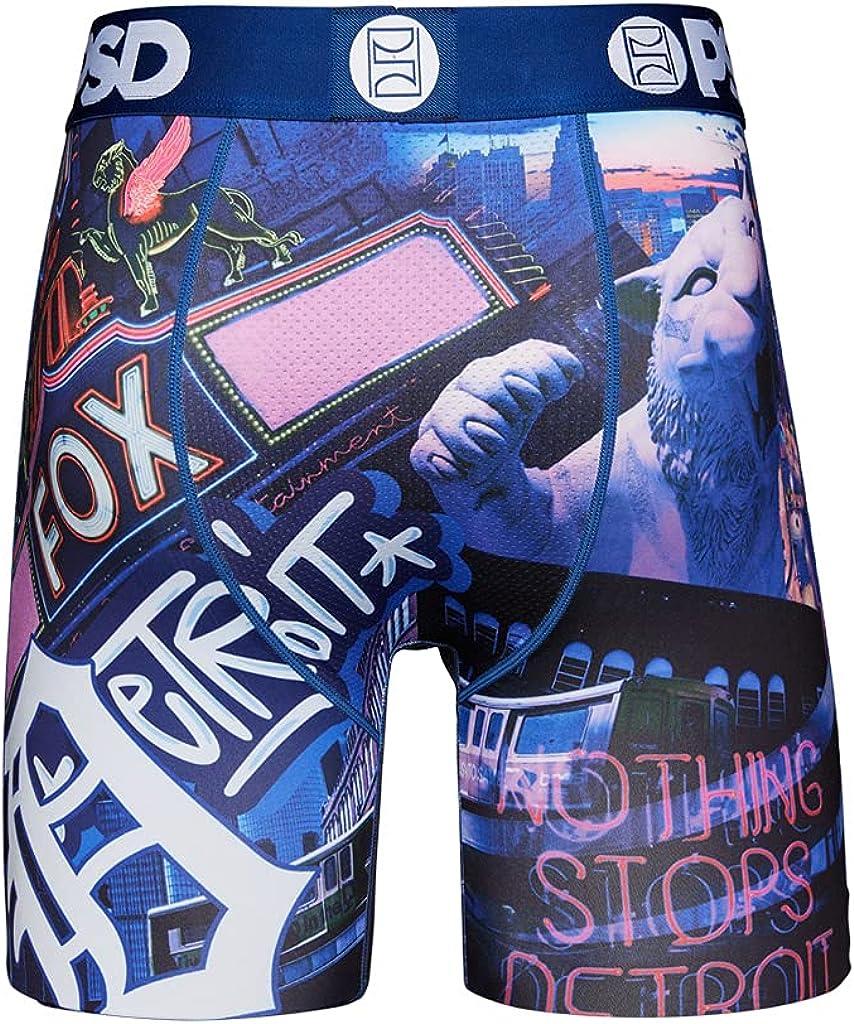 PSD Underwear Men's Detroit Icons Boxer Brief